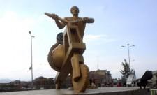 Le monument Tshukudu, une des références symboliques de la ville de Goma, chef-lieu de la province du nord Kivu en RDC. Radio Okapi John Bompengo