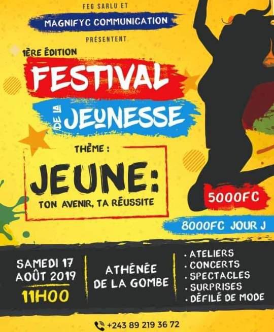 Un festival initié pour les jeunes le 17 août prochain à l'Athénée de la Gombe