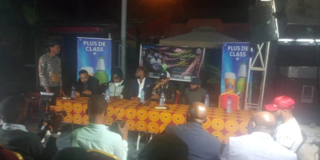 Conférence de presse d'avant-première de la Nuit Congolaise au Palm Beach.